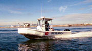 Offshore Ranger 21 feet service fire dive and rescue boat by Bullfrog Boats