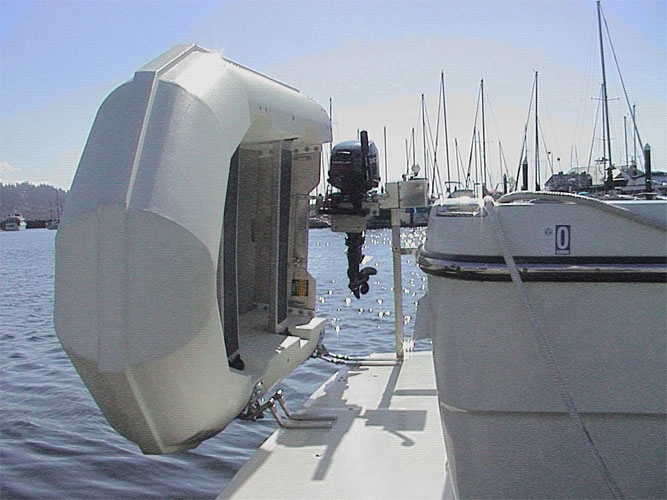Tender Lifts For Boats : Utility yacht tender dinghy bullfrog boats
